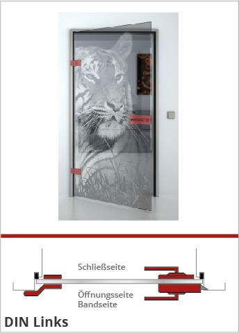 Visualisierung Glastüranschlag DIN Links - Lionidas Design GmbH