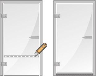 Glastür kürzen - Lionidas Design GmbH